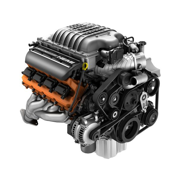 Supercharged 6.2-liter HEMI® Hellcat V-8 engine is rated at 707