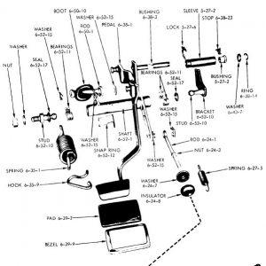 Clutch Pedal - Z-bar - Torque Shaft